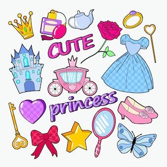 Kleine prinses doodle accessoires