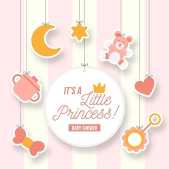 Kleine prinses meisje babydouche