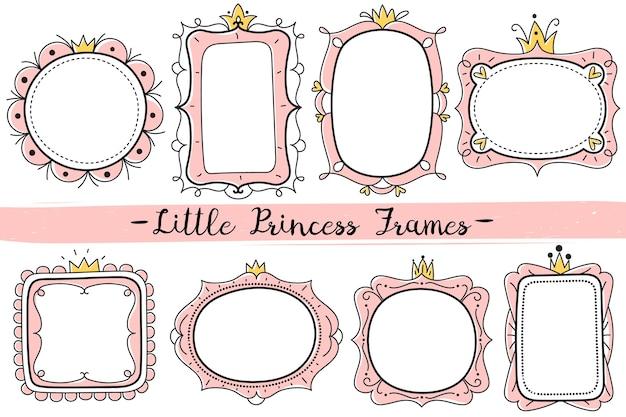 Kleine prinses roze frames
