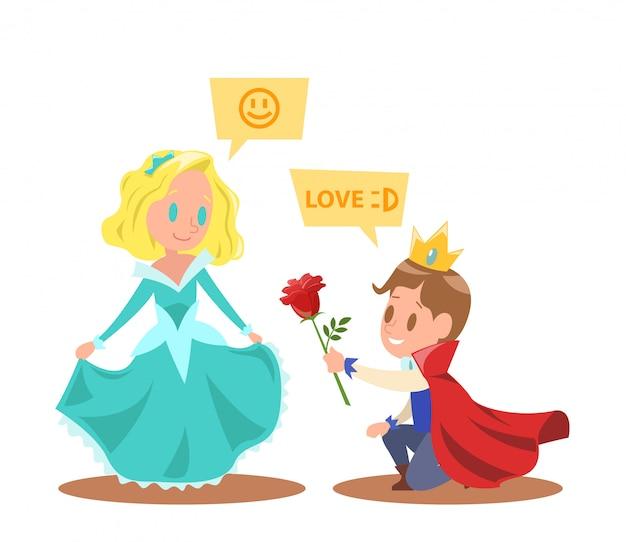 Kleine prinsessen en prinsen personages ontwerpen
