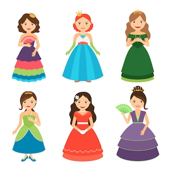 Kleine prinsessenmeisjes