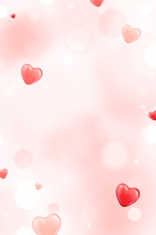 Kleine rode hartachtergrond
