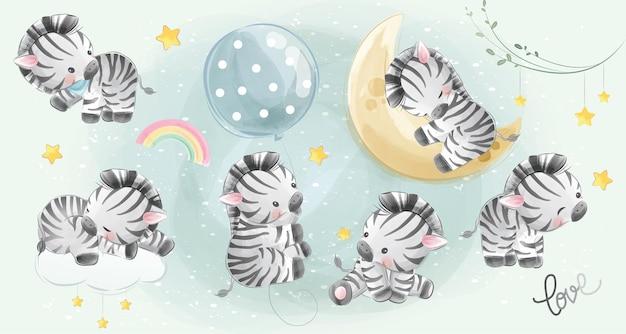 Kleine safari zebra-collecties