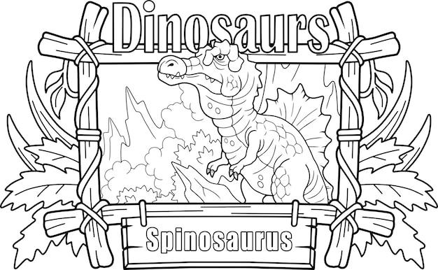 Kleine schattige cartoon spinosaurus