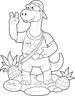 Kleine schattige dinosaurus