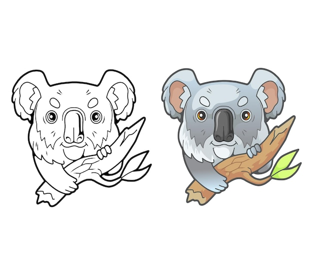 Kleine schattige koala geïsoleerd op wit