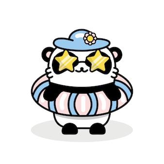 Kleine schattige panda illustratie