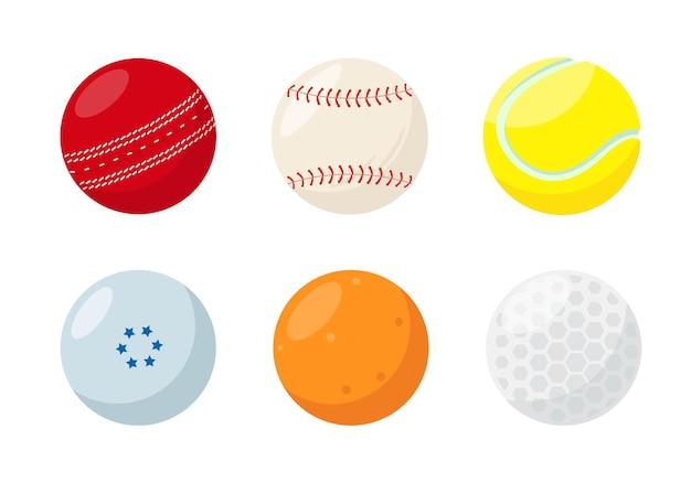 Kleine sportballen voor tennis honkbal cricket golf hockey en pingpong