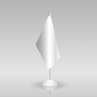 Kleine tafel vlag vector. het beste om een bedrijfslogo of tekst te plaatsen.
