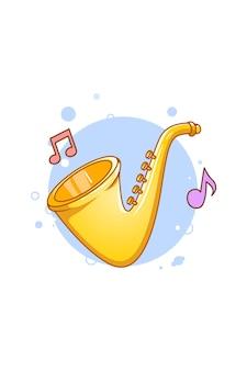 Kleine trompet muziekinstrument cartoon afbeelding