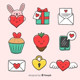 Kleine valentijnsdag elementen collectie