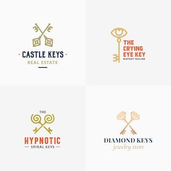 Kleine verzameling retro sleutels