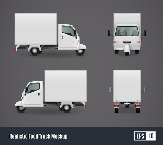 Kleine voedsel vrachtwagen sjabloon