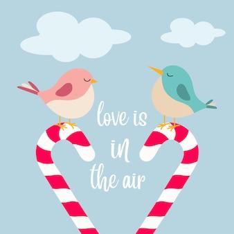 Kleine vogels in de liefde