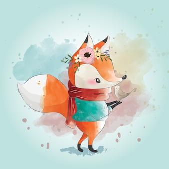 Kleine vos en zijn vriend