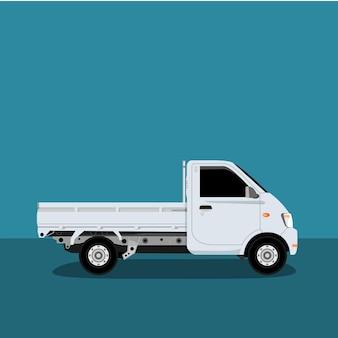 Kleine vrachtwagen iconen vector.