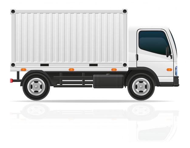 Kleine vrachtwagen voor de vectorillustratie van de vervoerslading
