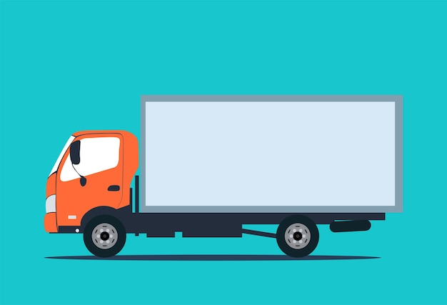 Kleine vrachtwagen voor transportlading