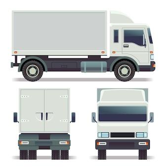 Kleine vrachtwagen voorzijde