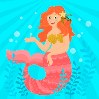 Kleine zeemeermin en zeeleven