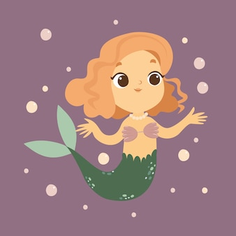 Kleine zeemeermin in de zee-afbeelding