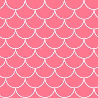 Kleine zeemeermin naadloze patroon. vis huidtextuur. bewerkbare achtergrond voor meisjesstof, textielontwerp, inpakpapier, badkleding of behang. blauwe kleine zeemeermin achtergrond met vis schaal.