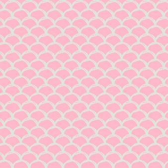 Kleine zeemeermin naadloze patroon. vis huidtextuur. bewerkbare achtergrond voor meisjesstof, textielontwerp, inpakpapier, badkleding of behang. roze kleine zeemeermin achtergrond met vis schaal.