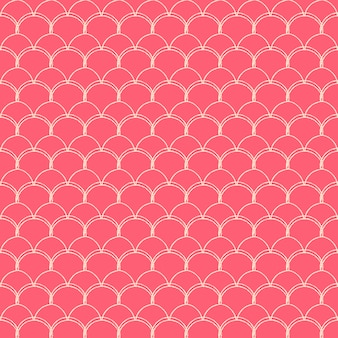 Kleine zeemeermin naadloze patroon. vis huidtextuur. bewerkbare achtergrond
