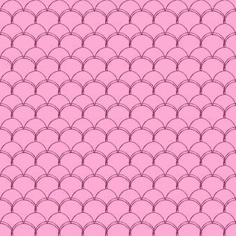 Kleine zeemeermin naadloze patroon