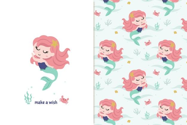 Kleine zeemeermin patroon