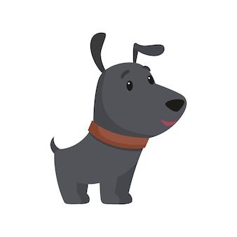 Kleine zwarte pup lacht