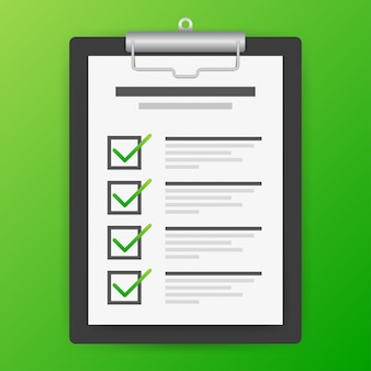 Klembord met checklist pictogram. checklist pictogram voor web.