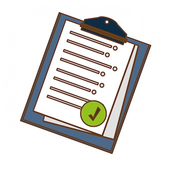 Klembord met pictogramafbeelding op het pictogram