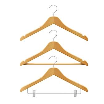 Kleren houten hangers