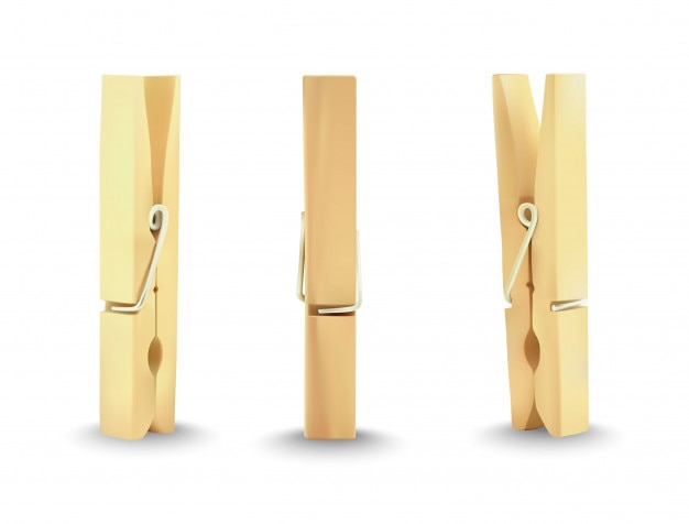 Kleren houten pin