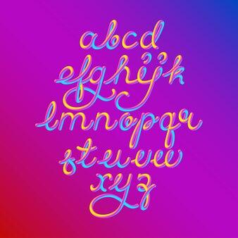 Kleur 3d alfabet lettertype