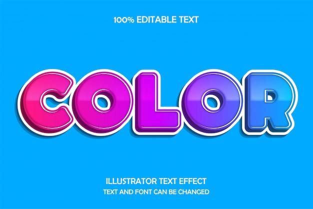 Kleur, 3d-bewerkbare teksteffect moderne patroonstijl