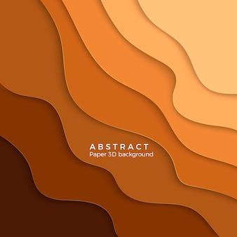 Kleur abstracte zand achtergrond. papier gesneden geel verloop. laag geel golvend papier. illustratie