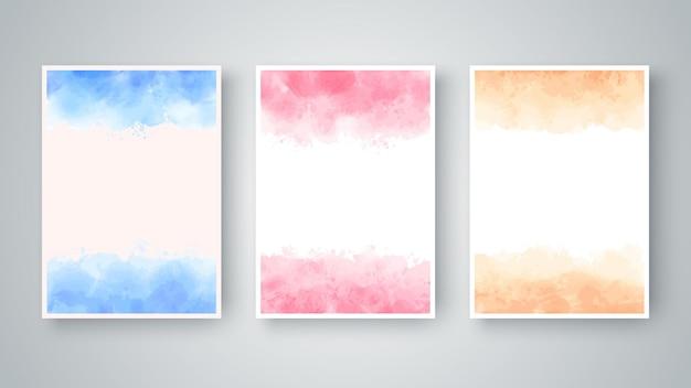 Kleur aquarel abstracte textuur.
