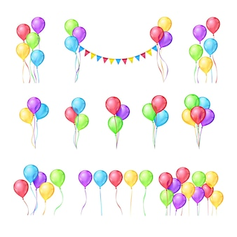 Kleur ballonnen set
