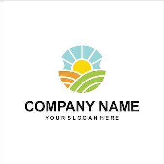 Kleur boerderijen logo vector