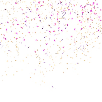 Kleur confetti geïsoleerd. partij vector illustratie