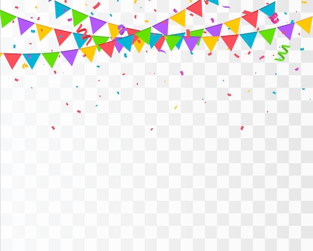 Kleur confetti geïsoleerd. vieren