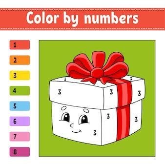 Kleur door getallen illustratie