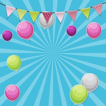 Kleur glanzend ballonnen achtergrond vectorillustratie