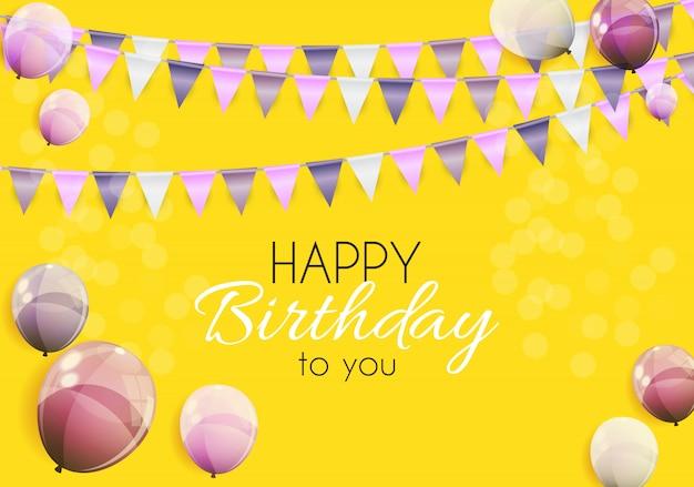 Kleur glanzend happy birthday ballonnen illustratie