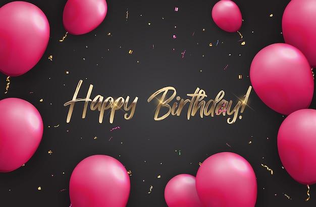 Kleur glanzend happy birthday ballonnen
