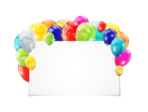 Kleur glanzende ballonnen achtergrond vectorillustratie eps10