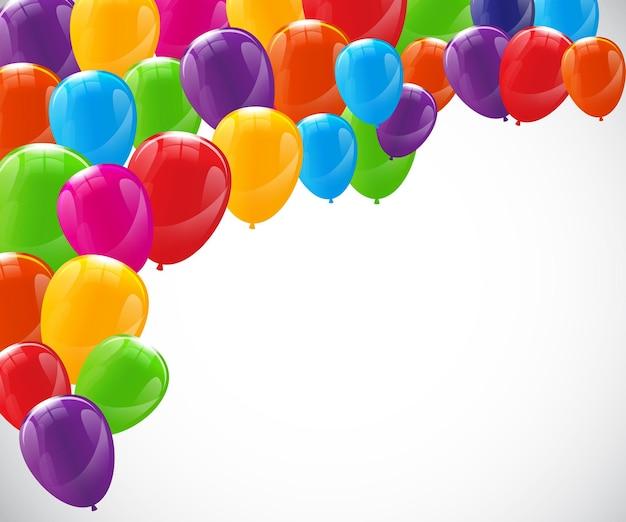 Kleur glanzende ballonnen achtergrond vectorillustratie