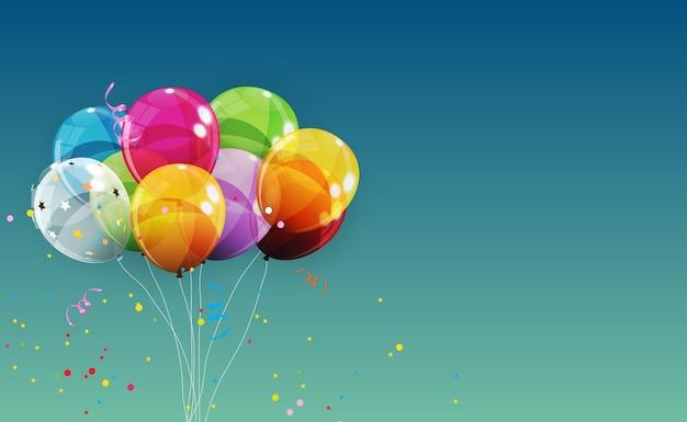 Kleur glanzende ballonnen achtergrond